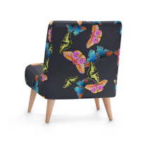Load image into Gallery viewer, BUTTERFLIES BOTTOM PAINT OCCASIONAL CHAIR