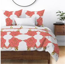 Load image into Gallery viewer, ENGLISH ROSE DUVET COVER-WHITE
