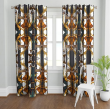 Load image into Gallery viewer, ANIMAL PRINT STRIPES LINEN CURTAIN