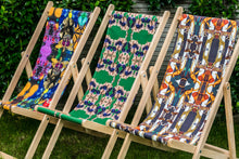 Load image into Gallery viewer, ANIMAL PRINT STRIPES DECK CHAIR