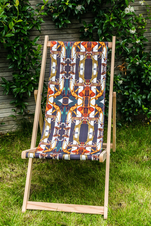 ANIMAL PRINT STRIPES DECK CHAIR