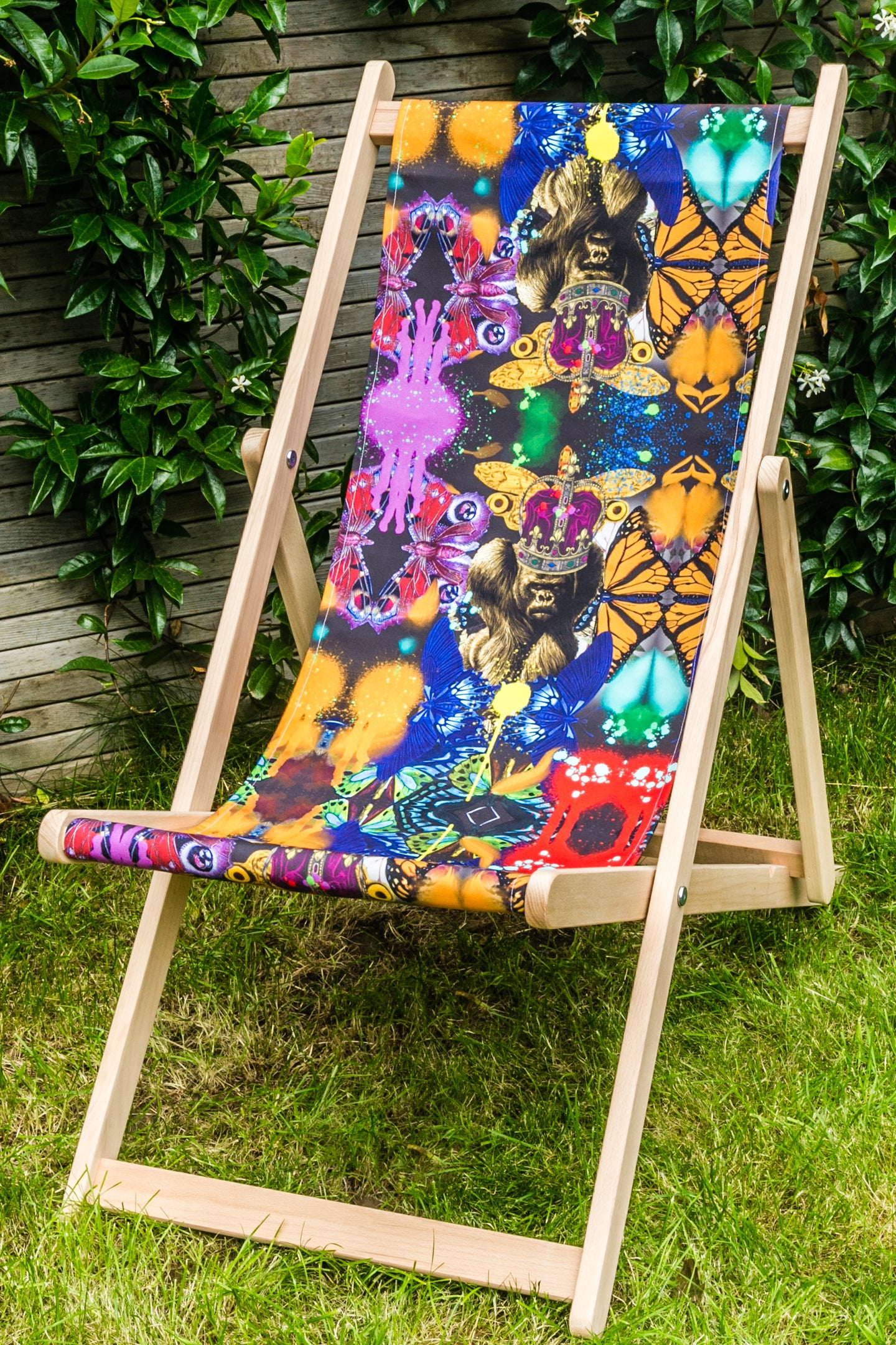 VIRUNGA PAINT DECK CHAIR-NOIR