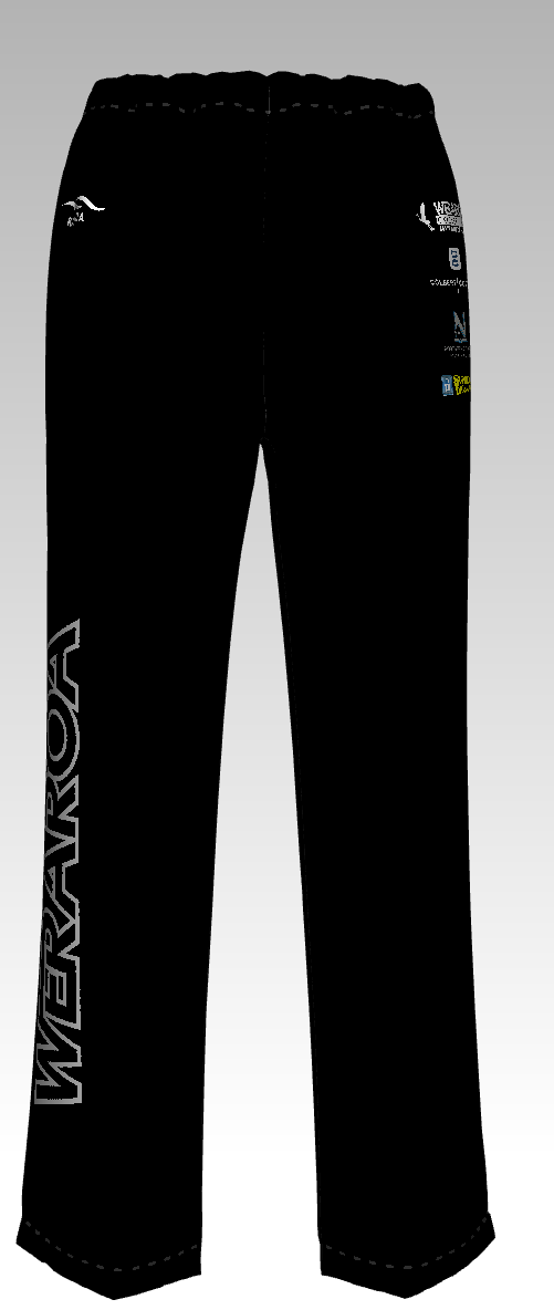 Weraroa Men Black Game Pants