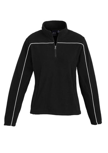 Mens - Poly Fleece Core F235ML (Black) Logo 2 & 4