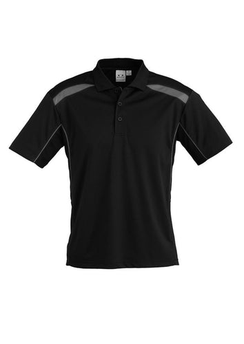Kids - United Polo P244KS (Black & Ash) Logo 1 & Logo 4