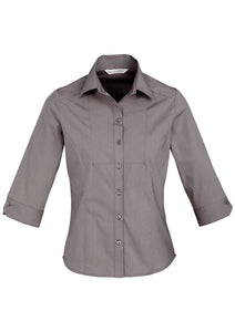 Ladies - Chevron Shirt 3/4S S122LT (Graphite) Logo 2 & 4