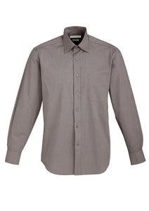 Mens - Chevron Shirt L/S  S122ML (Graphite) Logo 2 & 4