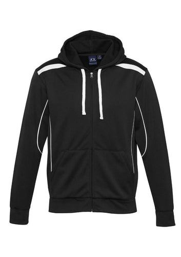 Adults - United Zip Hoodie SW310M (Black & White) Logo 2 & 4