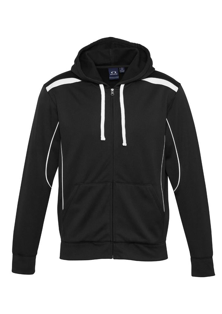 Kids - United Zip Hoodie SW310k (Black & White)  Logo 1 & 4