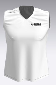 Kids Sublimated White Playing Vest 2018-2019 + Surname Added