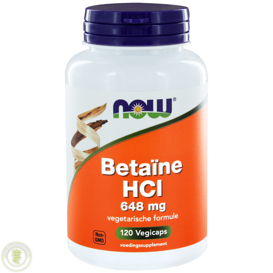 NOW Betaine HCI 648mg Capsules 120ST