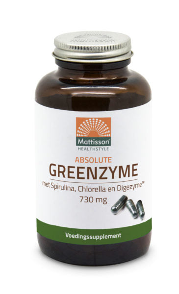 GreenZyme met Spirulina, Chlorella en Digezyme Mattisson