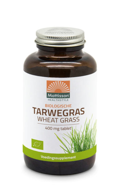 Absolute Tarwegras Wheatgrass 400mg Bio Raw Mattisson