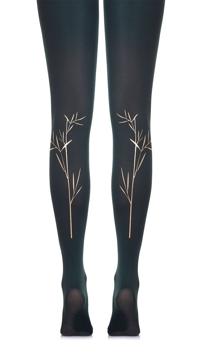 No Rose without a Thorn Green Tights