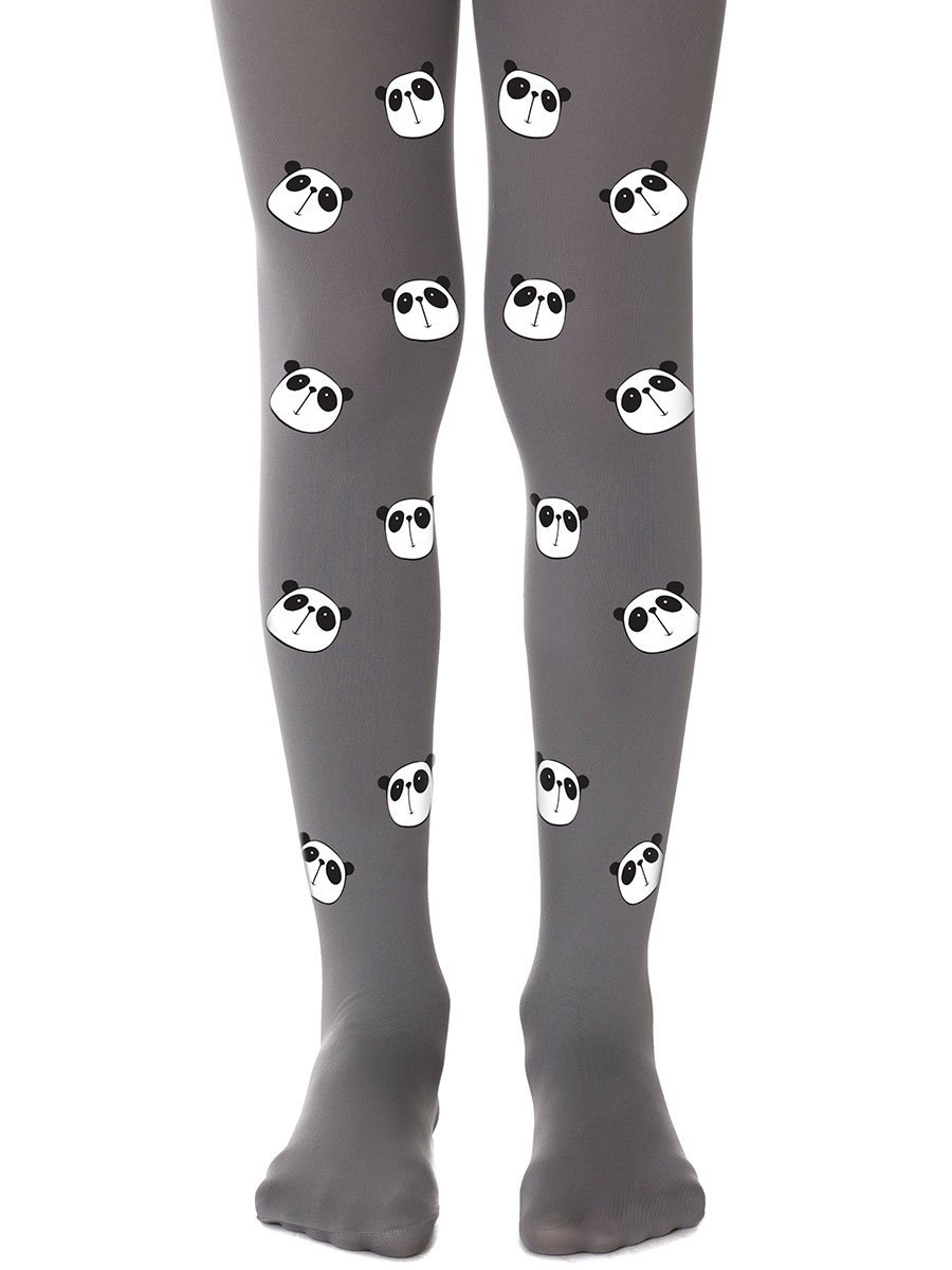 Bamboo Grey Girls Tights