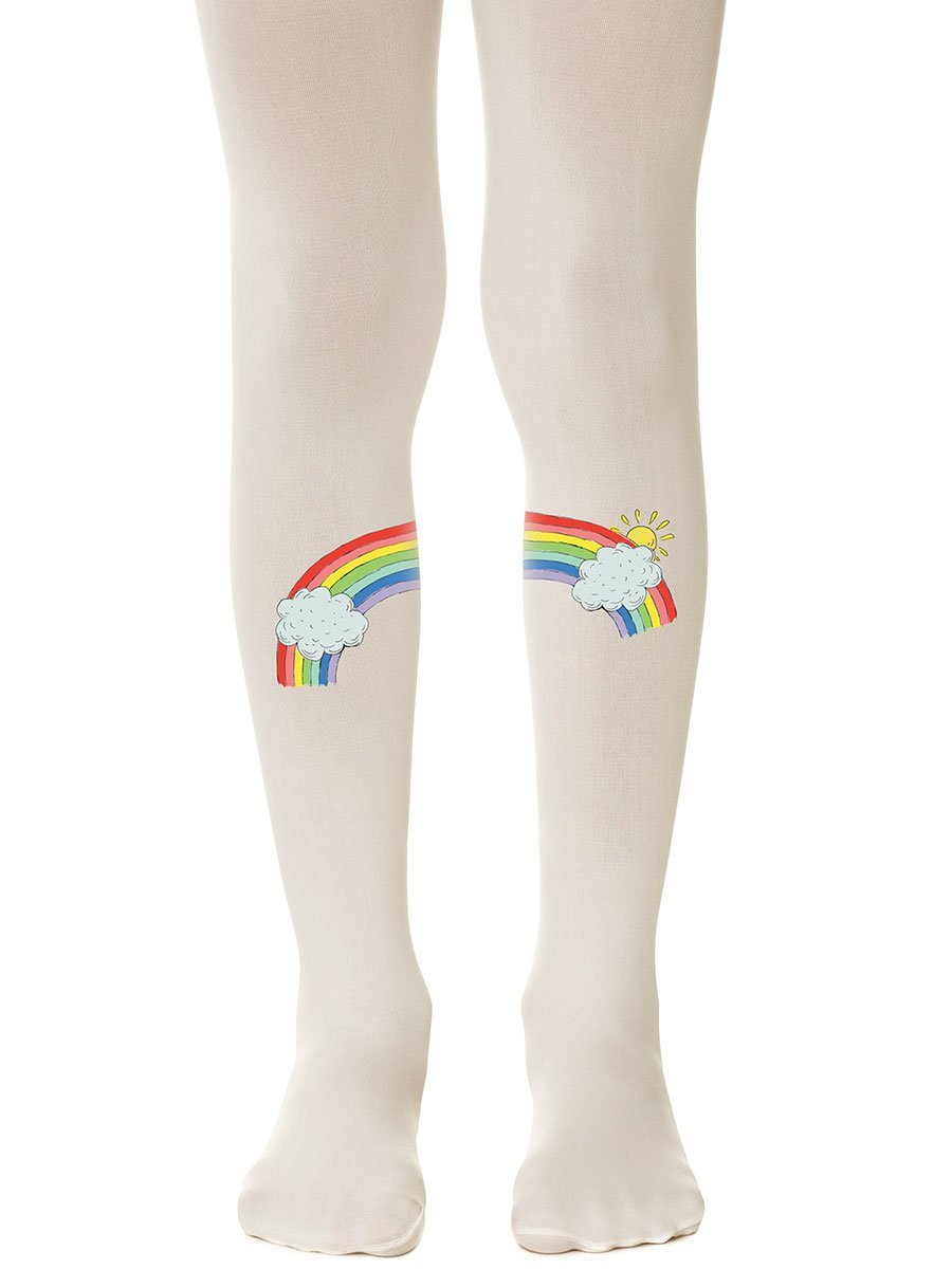 Chasing Rainbows Cream Girls Tights