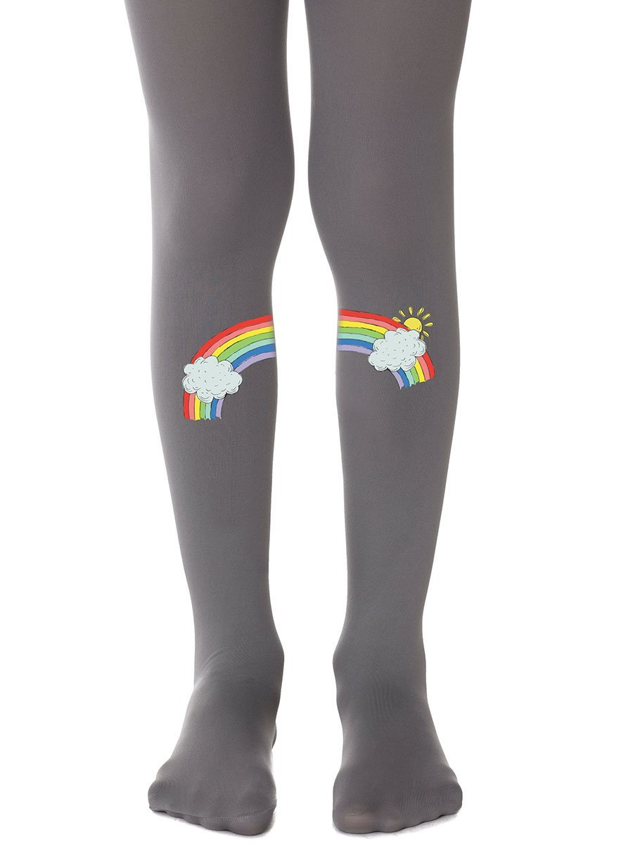 Chasing Rainbows Grey Girls Tights