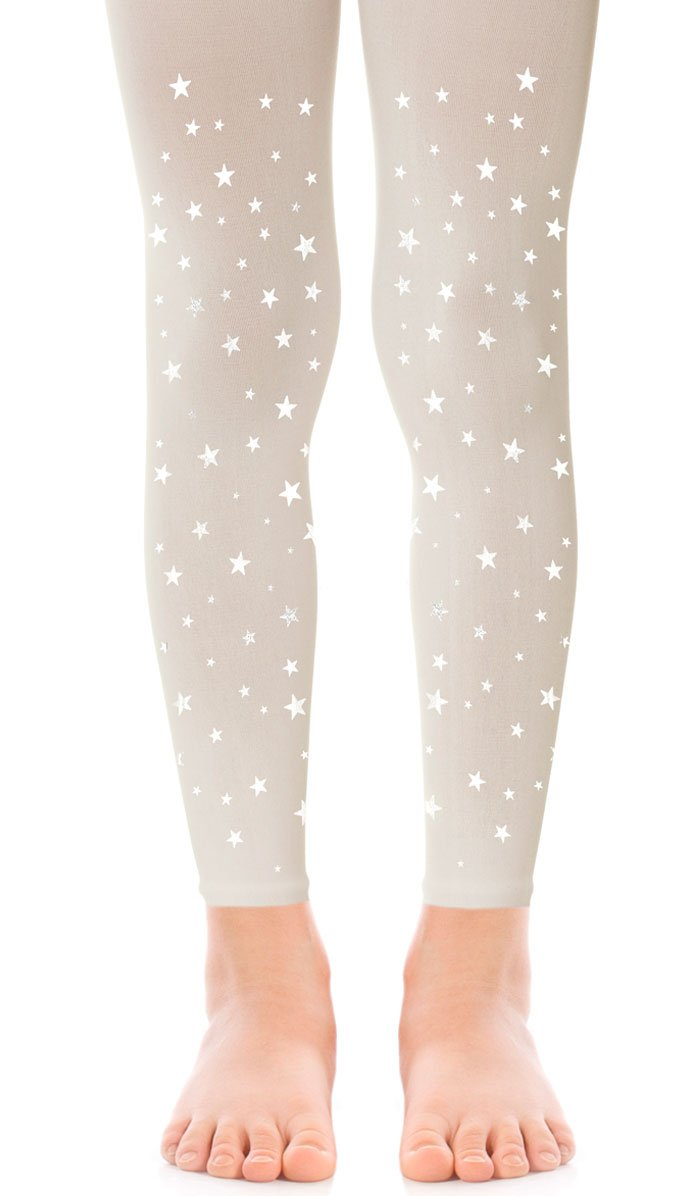 MAKE A WISH - GIRLS CREAM FOOTLESS TIGHTS