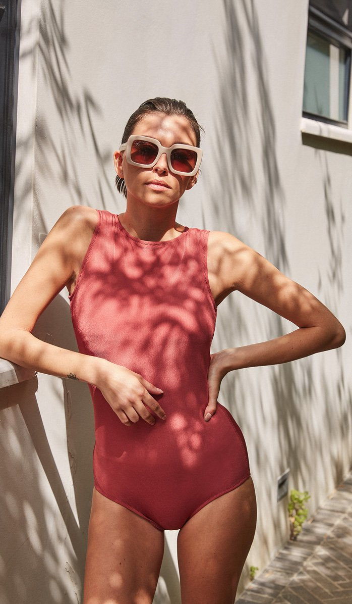The Ali Sunset Ribbed One-Piece