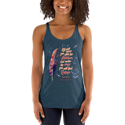 Agapé Feathers And Wings - Ladies' Triblend Racerback Tank-Made In Agapé