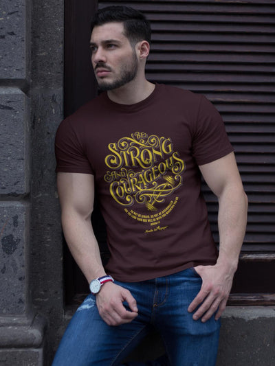 Be Strong and Courageous - Unisex Crew-Made In Agapé