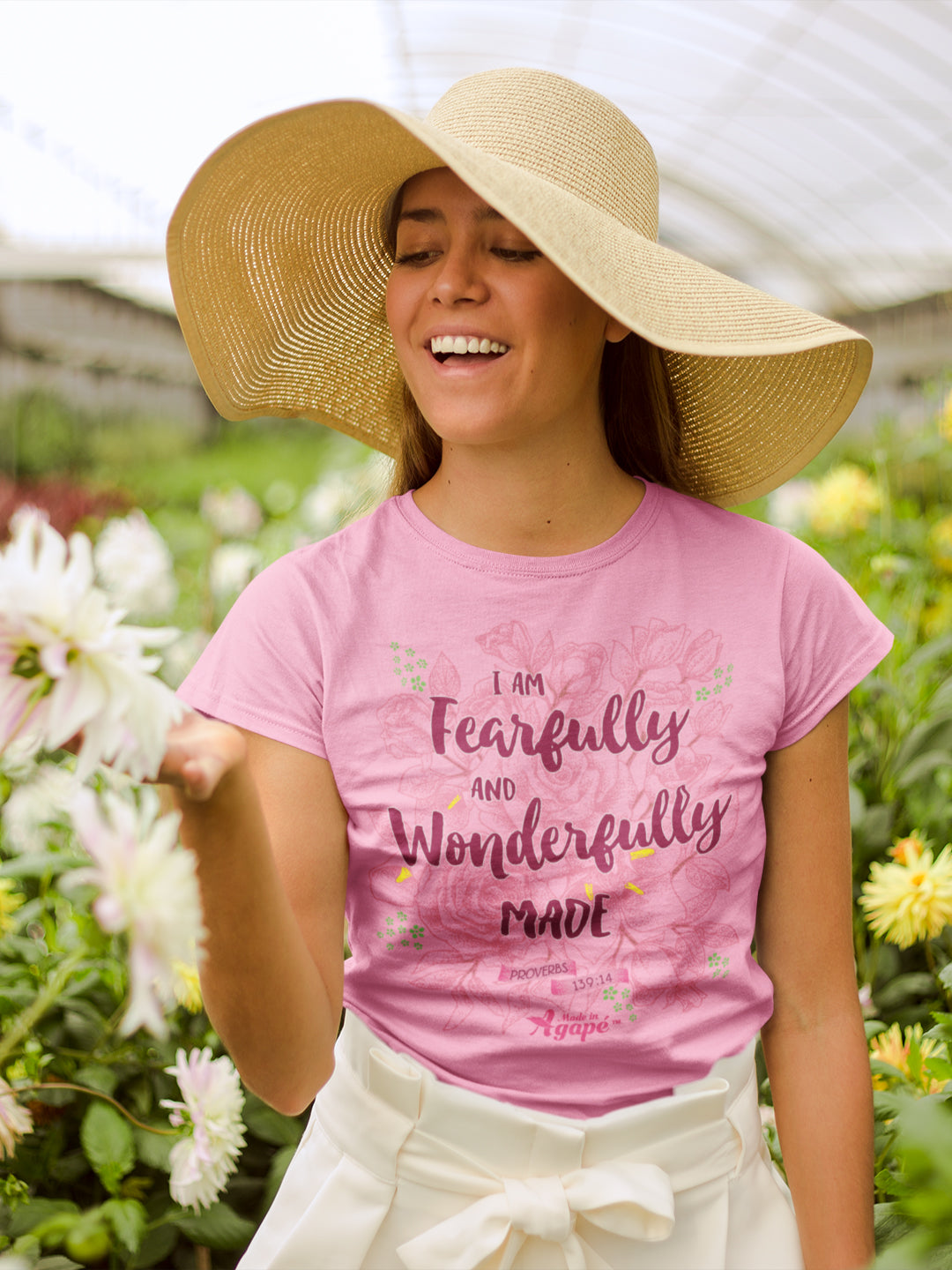 Fearfully And Wonderfully Made - Ladies' Fit Tee-Made In Agapé