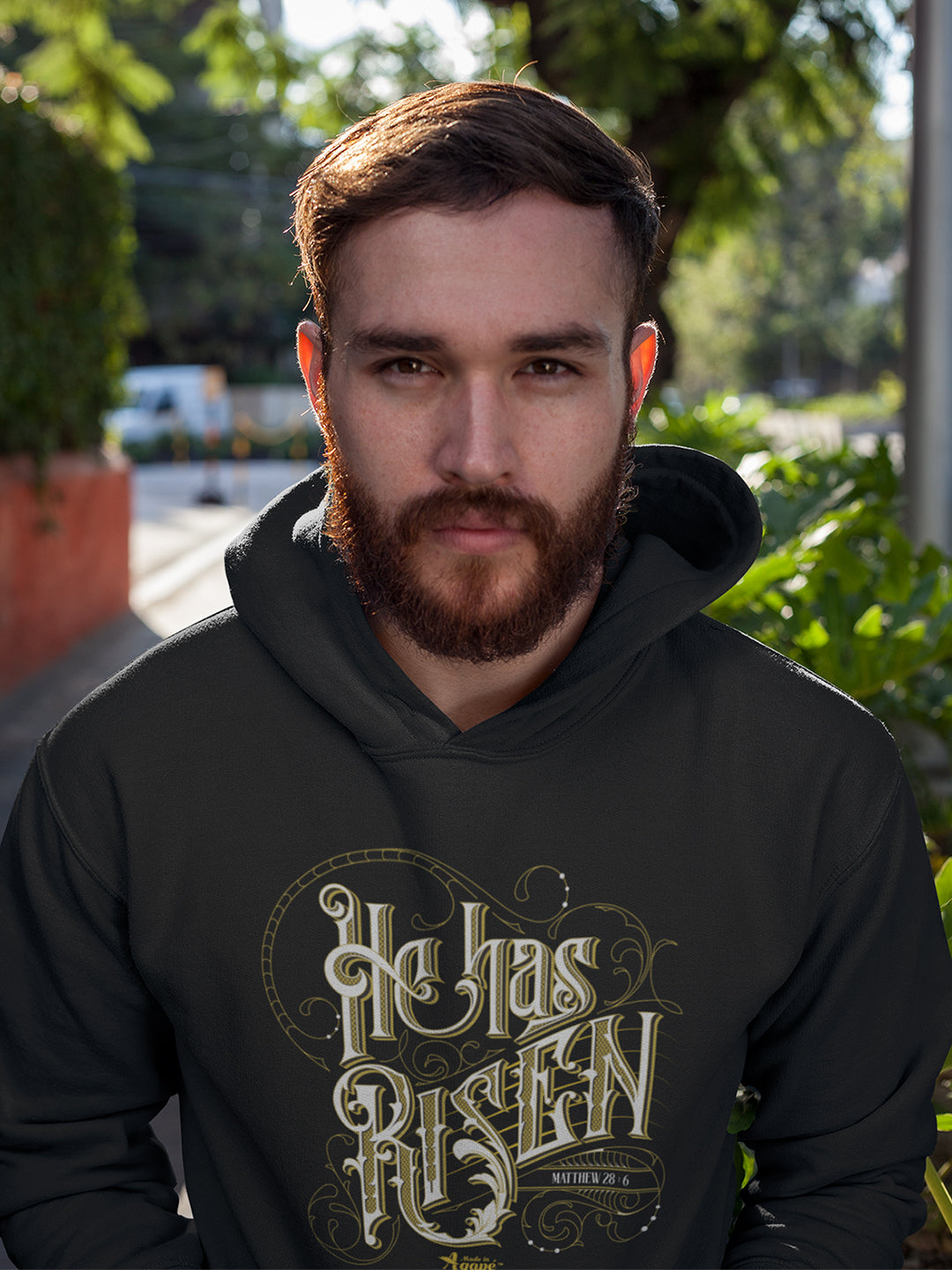 He Has Risen - Men's Hoodie-Made In Agapé