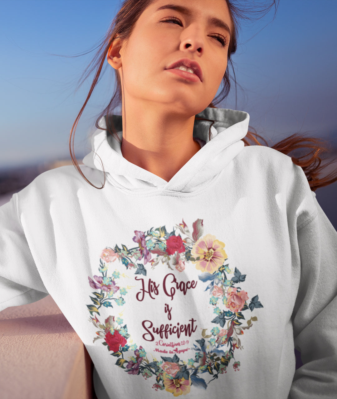 His Grace Is Sufficient - Women's Hoodie-Made In Agapé
