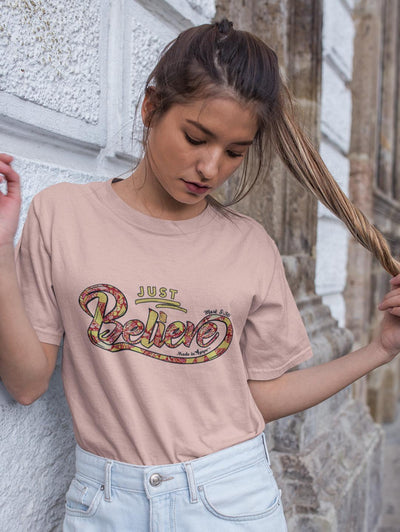 Just Believe - Cozy Fit Short Sleeve Tee-Made In Agapé