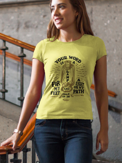 Lamp For Feet And Light On Path - Ladies' Fit Tee-Made In Agapé