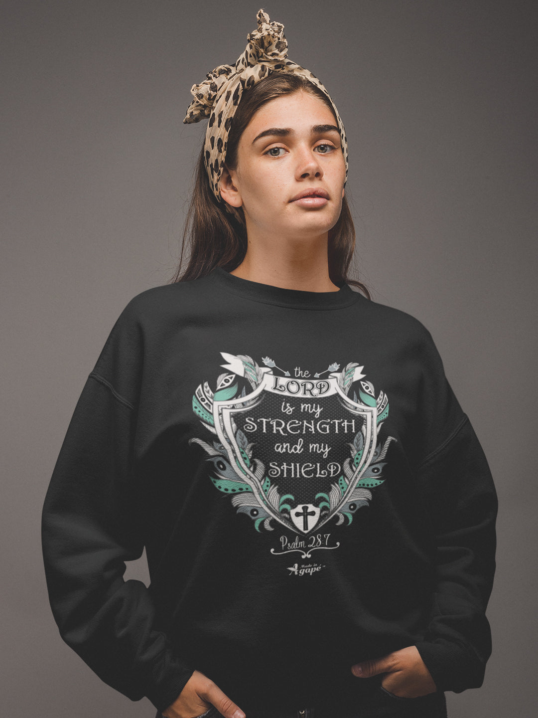 Lord Is My Strength And Shield - Women's Sweatshirt-Made In Agapé