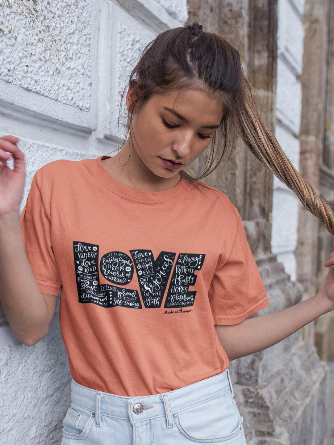 LOVE Protects - Cozy Fit Short Sleeve Tee-Made In Agapé