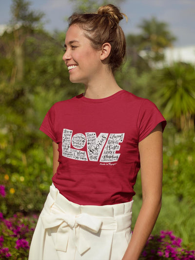 LOVE Protects - Ladies' Fit Tee-Made In Agapé
