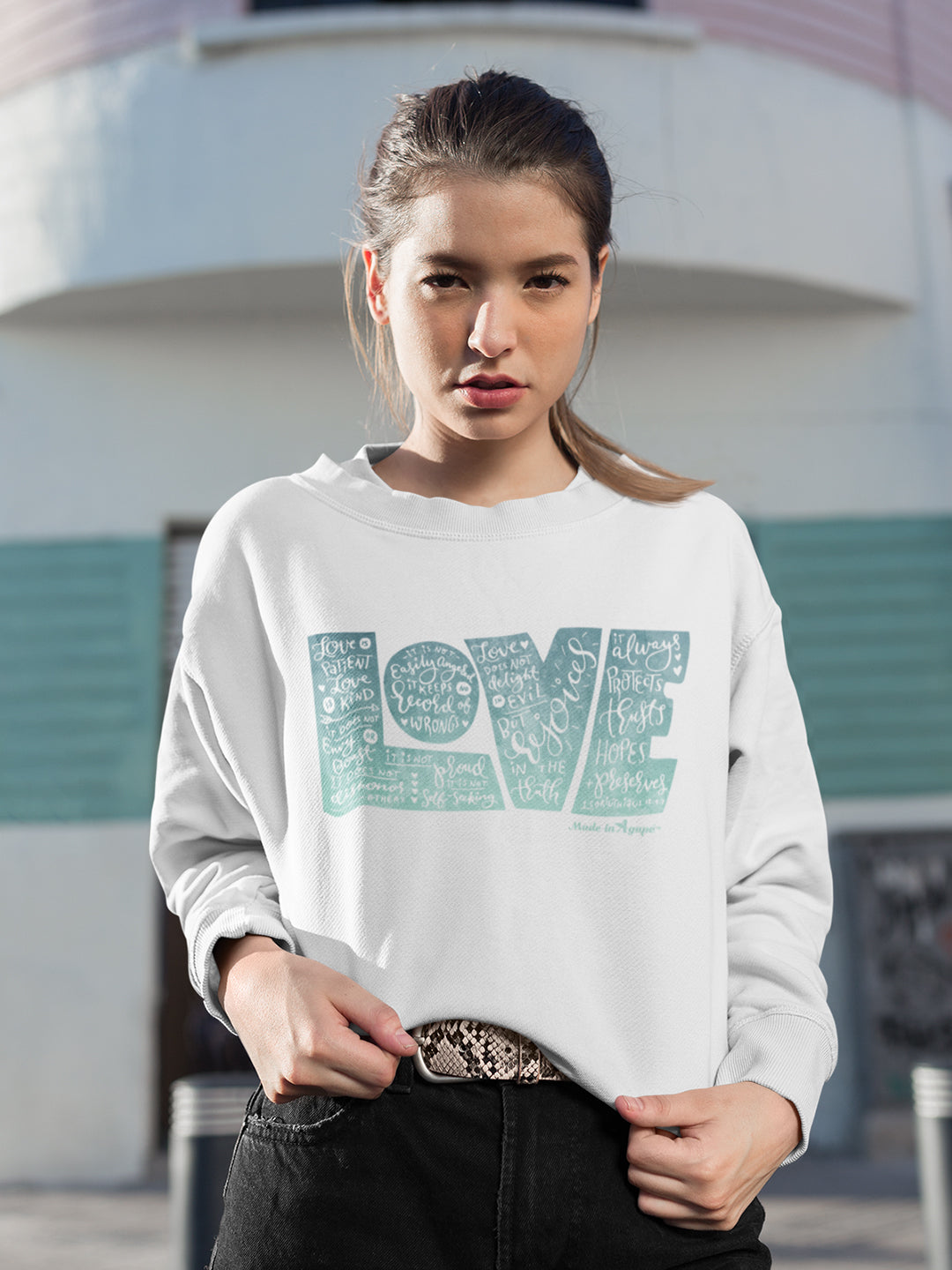 LOVE Protects - Women's Sweatshirt-Made In Agapé
