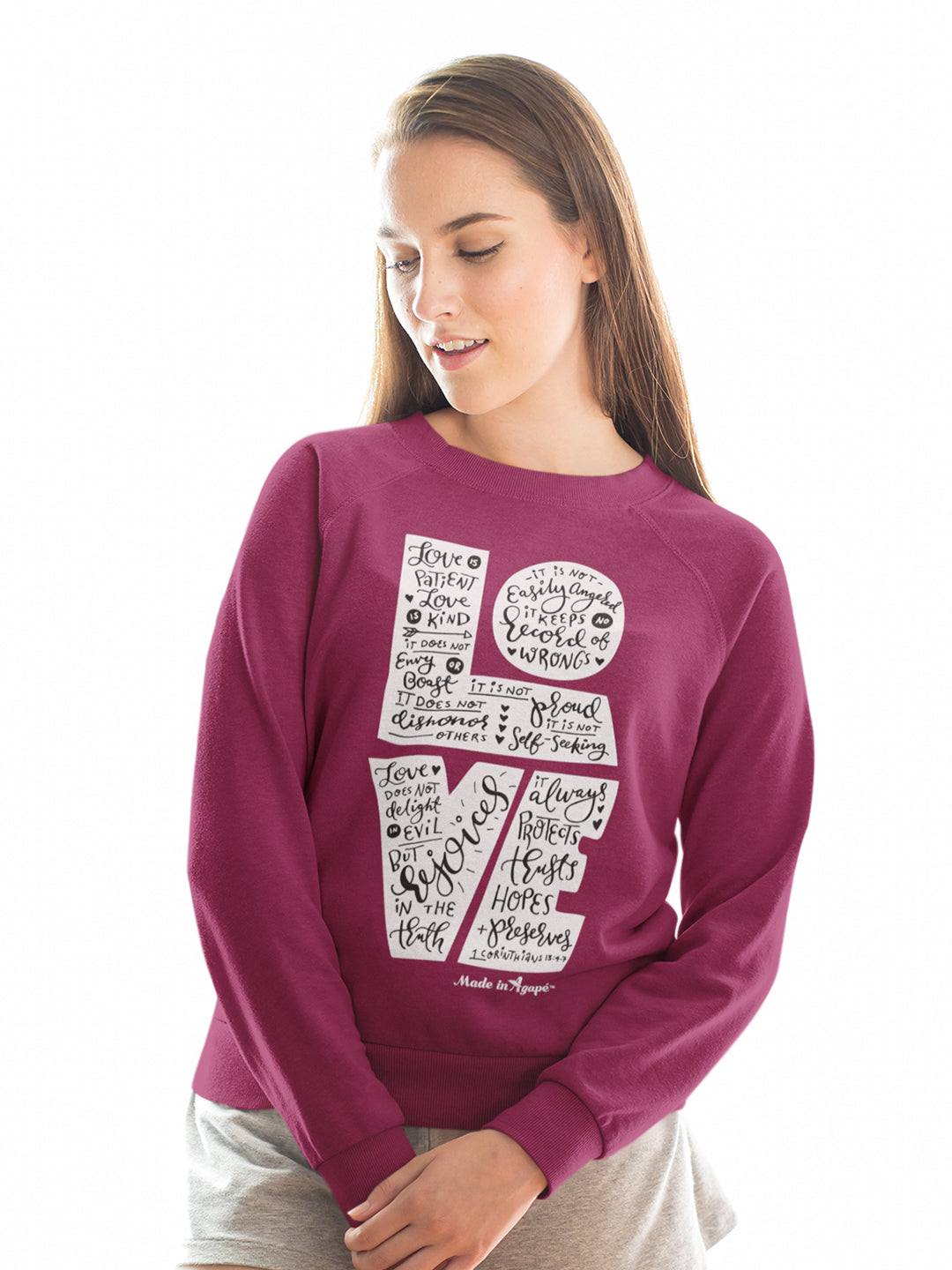 LOVE Is Patient - Women's Sweatshirt-Made In Agapé