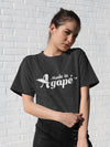 Made In Agapé™ - Cozy Fit Short Sleeve Tee-Made In Agapé