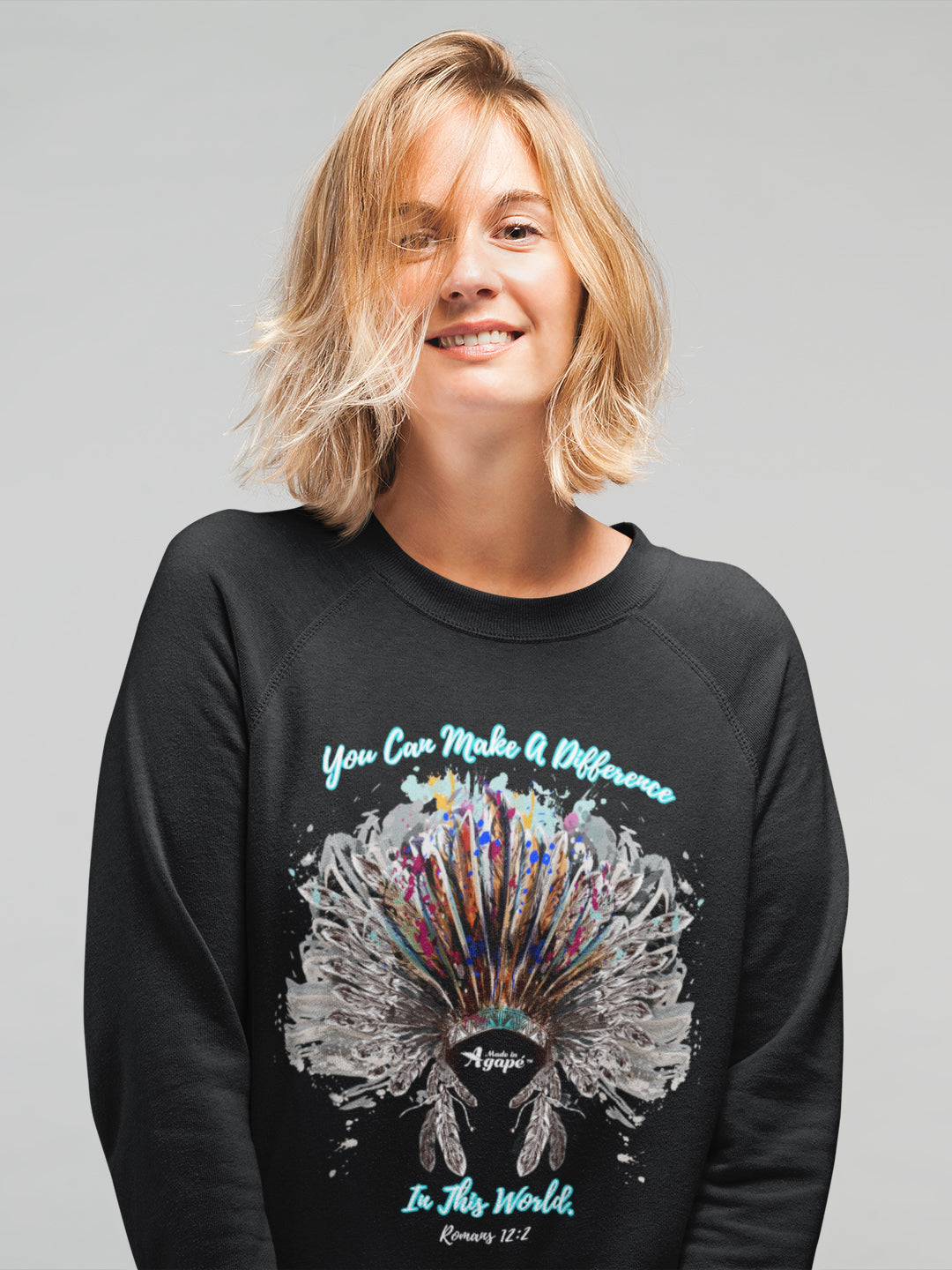 Make A Difference In This World - Women's Sweatshirt-Made In Agapé