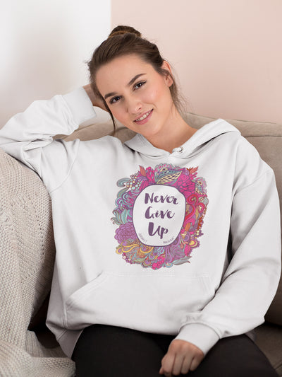 Never Give Up - Women's Hoodie-Made In Agapé