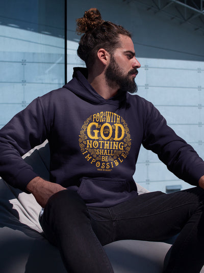 Nothing Impossible With God - Men's Hoodie-Made In Agapé