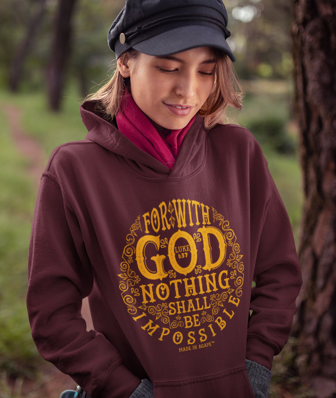 Nothing Impossible With God - Women's Hoodie-Made In Agapé