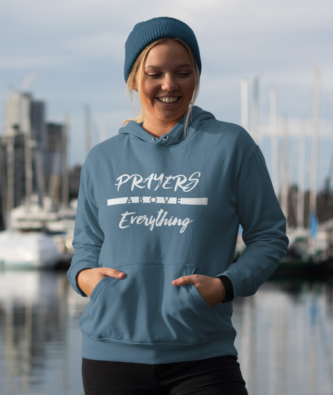 Prayers Above Everything - Women's Hoodie-Made In Agapé