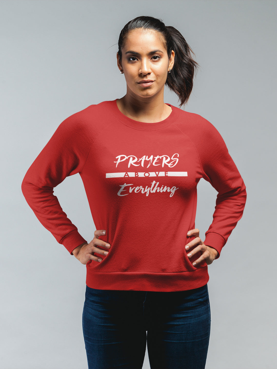 Prayers Above Everything - Women's Sweatshirt-Made In Agapé