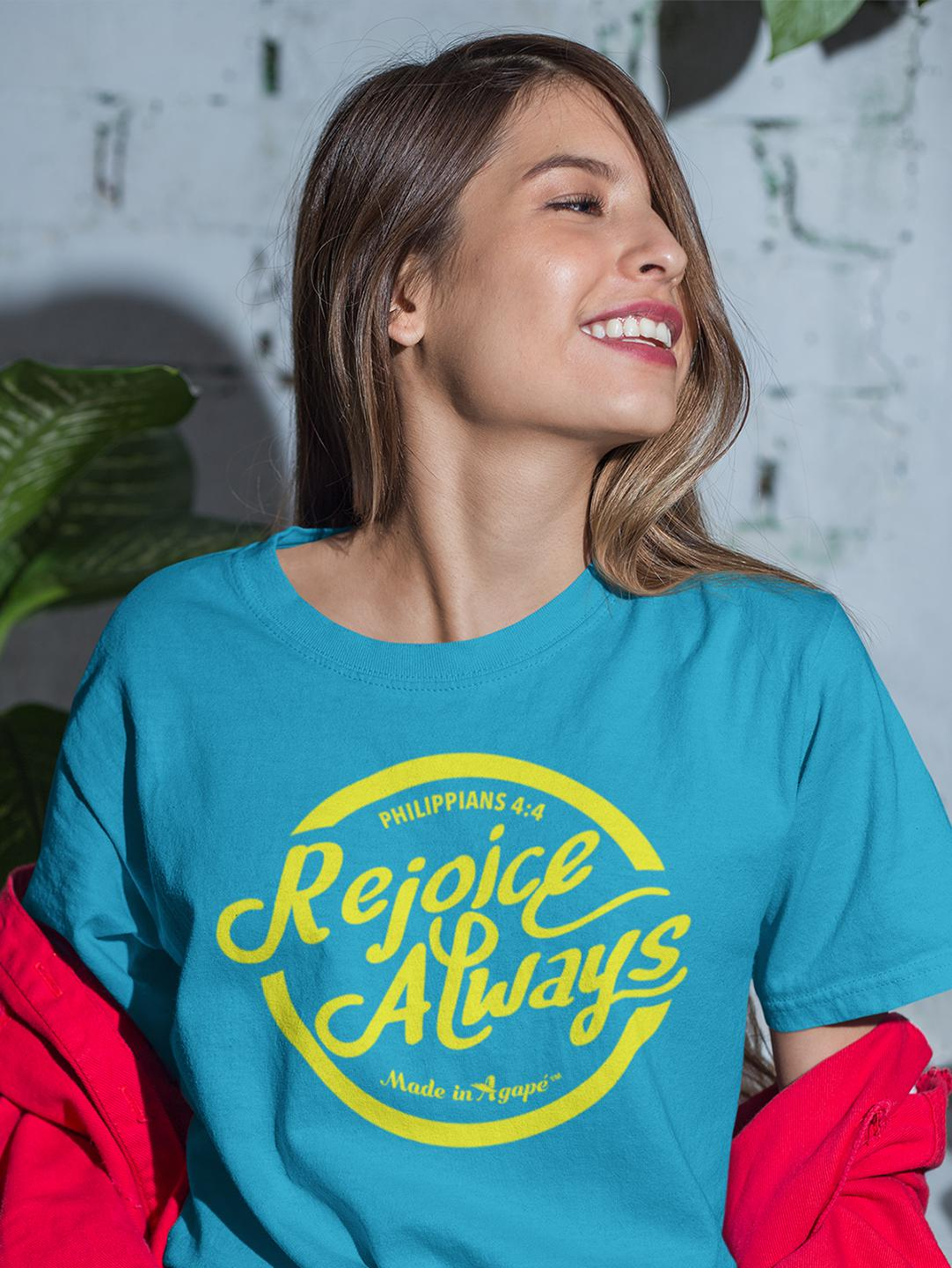 Rejoice Always - Cozy Fit Short Sleeve Tee-Made In Agapé