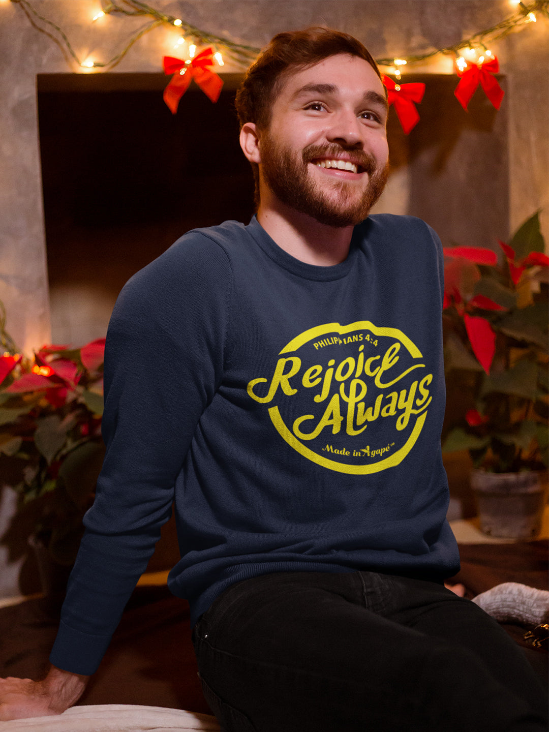 Rejoice Always -Men's Sweatshirt-Made In Agapé