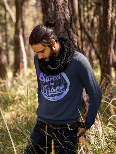 Saved By Grace - Men's Sweatshirt-Made In Agapé
