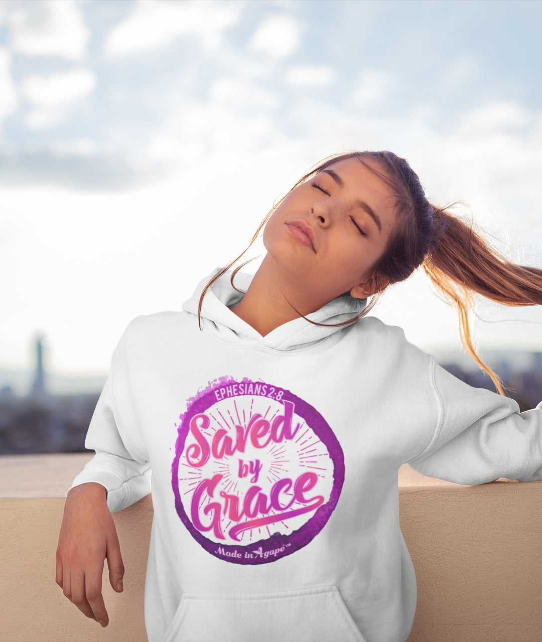 Saved By Grace - Women's Hoodie-Made In Agapé