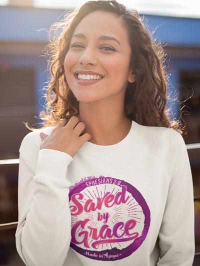 Saved By Grace - Women's Sweatshirt-Made In Agapé