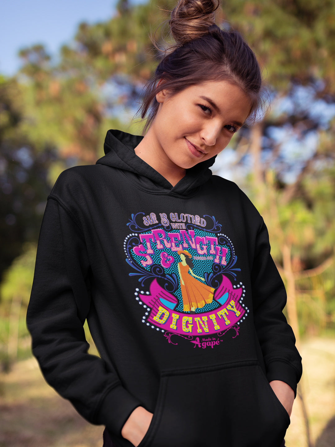 She's Clothed With Strength And Dignity - Women's Hoodie-Made In Agapé