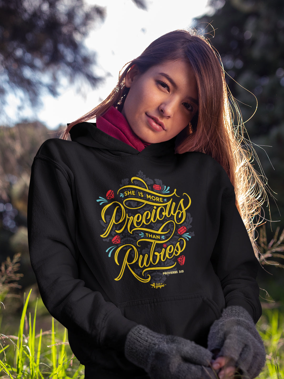 She's More Precious Than Rubies - Women's Hoodie-Made In Agapé