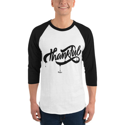 Thankful - Unisex 3/4 Sleeve Raglan Baseball Tee-Made In Agapé